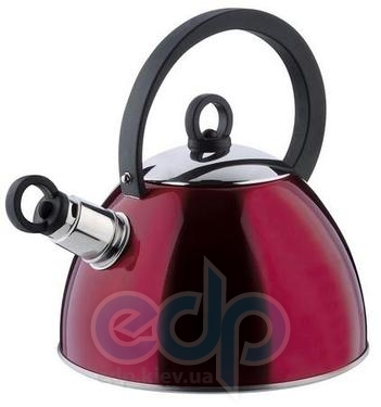 Vinzer (посуда) Vinzer -  Чайник BORDO - нержавеющая сталь, 2,5 л, свисток (арт. 69011)