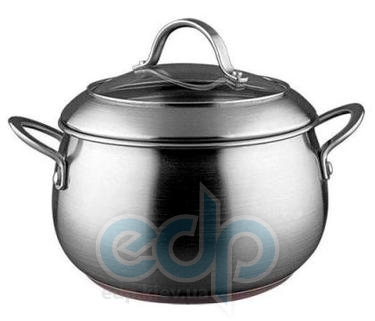 Vinzer (посуда) Vinzer -  Кастрюля - нержавеющая сталь, диаметр 20см, 4,2л , медное дно (арт. 89077)