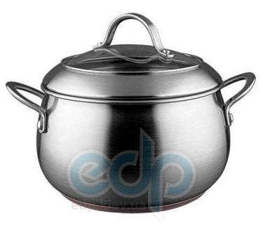 Vinzer (посуда) Vinzer -  Кастрюля - нержавеющая сталь, диаметр 24см, 6,8л , медное дно (арт. 89078)