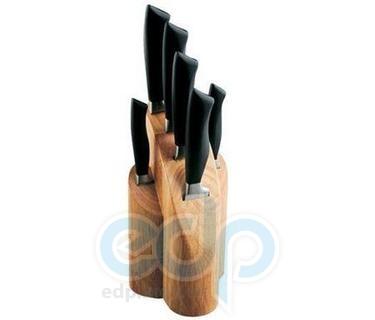 Vinzer (посуда) Vinzer -  Набор ножей ROCK - 7 предметов, бакелитовая ручка, деревянная подставка (арт. 69109)