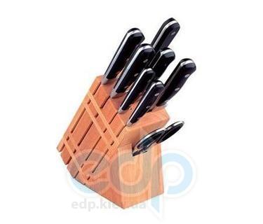 Vinzer (посуда) Vinzer -  Набор ножей MASTER (New) - 9 предметов, кованые ручки, деревянная подставка (арт. 89111)