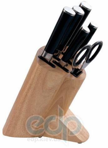 Vinzer (посуда) Vinzer -  Набор ножей SAKURA - 7 предметов, бакелитовая ручка, деревянная подставка (арт. 69114)