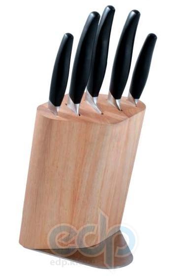 Vinzer (посуда) Vinzer -  Набор ножей RHOMB - 6 предметов, деревянная подставка (арт. 69115)