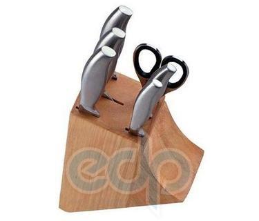 Vinzer (посуда) Vinzer -  Набор ножей Gourmet - 7 предметов, стальная ручка, деревяная подставка, натуральное дерево (арт. 69116)