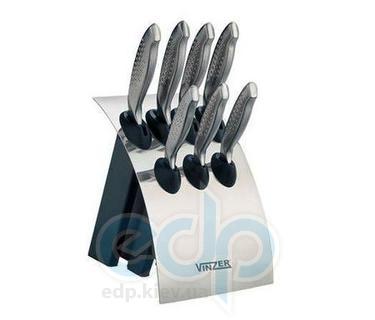Vinzer (посуда) Vinzer -  Набор ножей Shark - 8 предметов, стальная ручка, подставка из нерж, cтали (арт. 89117)