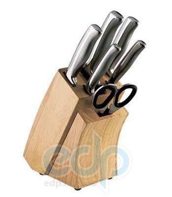 Vinzer (посуда) Vinzer -  Набор ножей Supreme - 7 предметов, подставка дерево, встроенное точило (арт. 89120)