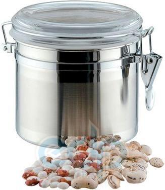 Vinzer (посуда) Vinzer -  Емкость для пищевых продуктов - 1,1 л, нержавеющая сталь, акрил, крышка (арт. 69200)