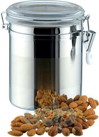Vinzer (посуда) Vinzer -  Емкость для пищевых продуктов - 1,6 л, нержавеющая сталь, акрил, крышка (арт. 69201)