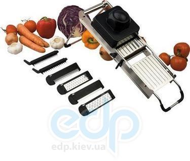 Vinzer (посуда) Vinzer -  Профессиональный набор терок - с 7 заменяемыми лезвиями и нескользящей складной подставкой (арт. 69223)