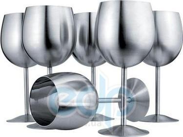 Vinzer (посуда) Vinzer -  Набор бокалов для вина - 6 шт,, нержавеющая сталь (арт. 69230)