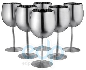 Vinzer (посуда) Vinzer -  Набор рюмок Grappa - 6 шт,, нержавеющая сталь (арт. 69239)