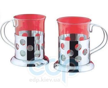 Vinzer (посуда) Vinzer -  Набор из двух чашек - нержавеющая сталь, стекло Pyrex, 200 мл (арт. 69351)