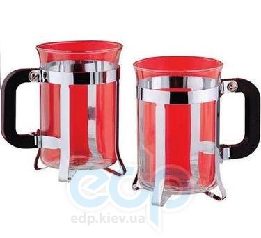 Vinzer (посуда) Vinzer -  Набор из двух чашек - нержавеющая сталь, стекло Pyrex, 200 мл (арт. 69360)