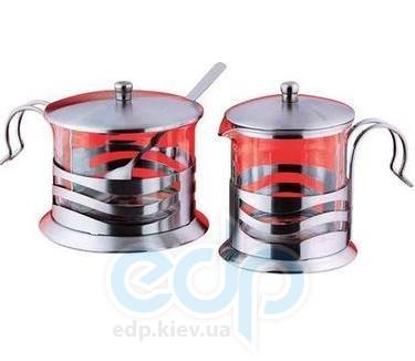 Vinzer (посуда) Vinzer -  Молочник и сахарница - нержавеющая сталь, стекло Pyrex (арт. 69363)