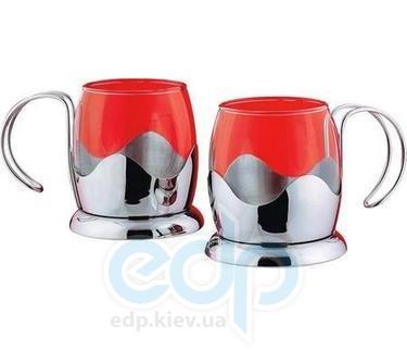 Vinzer (посуда) Vinzer -  Набор из двух чашек - нержавеющая сталь, стекло Pyrex, 150 мл (арт. 69365)