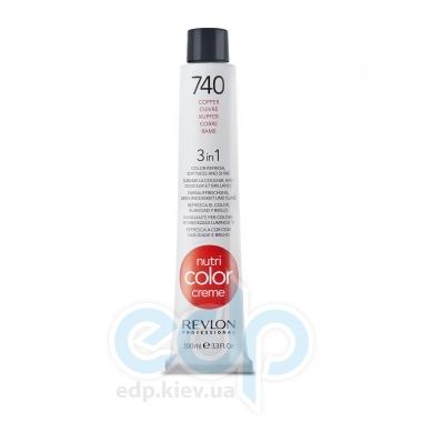 Тонирующий бальзам Revlon Professional - Nutri Color Creme №740 Copper/Медный - 100 ml