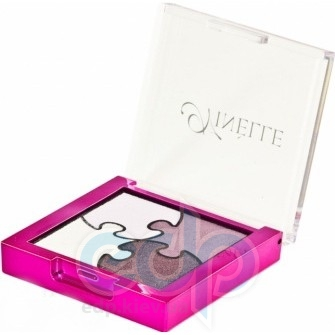 Ninelle Тени для век Puzzle № 653 Молочный, Нежно-розовый, Розовый, Тёмно-розовый - 5.2 gr (16530)