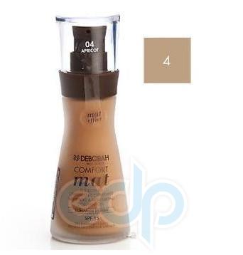 Deborah - Тональная Основа для лица матирующая Comfort Mat № 4 Apricot - 30 ml