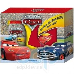 Admiranda The World of Cars для мальчиков -  Набор (гель для душа ментол и зеленая дыня 300 + шапка) (арт. AM 71659)