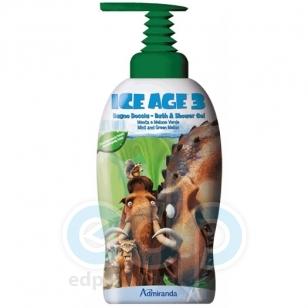 Admiranda Ice Age-3 -  Гель для душа с ароматом ментола и зеленой дыни -  1000 ml (арт. AM 73094)