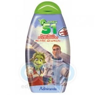 Admiranda Planet-51 -  Гель для душа с ароматом яблока и зеленого чая -  300 ml (арт. AM 75021)