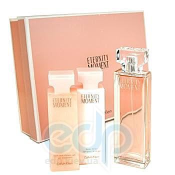Calvin Klein Eternity Moment -  Набор (парфюмированная вода 100 ml + лосьон-молочко для тела 100 + гель для душа 100)