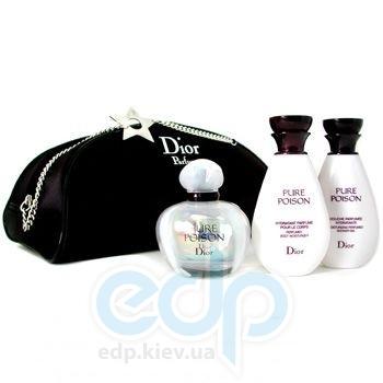 Christian Dior Pure Poison -  Набор (парфюмированная вода 50 + лосьон-молочко для тела 50 + гель для душа 50 + bag)