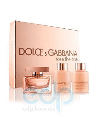 Dolce Gabbana Rose The One -  Набор (парфюмированная вода 75 + лосьон-молочко для тела 100 + гель для душа 100)