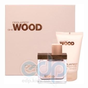 Dsquared 2 She Wood -  Набор (парфюмированная вода 100 + лосьон-молочко для тела 100 + гель для душа 100)