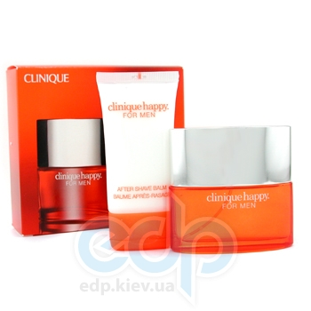 Clinique Happy for men -  Набор (одеколон 100 + бальзам после бритья 50)