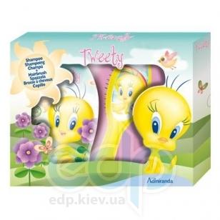 Admiranda Tweety - Набор подарочный (Шампунь для волос Tweety 250 ml + Расческа для волос Tweety) примятый (арт. AM 78015)