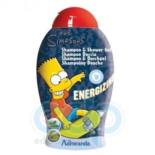 Admiranda Simpsons - Гель-пена для душа тонизирующий с экстрактом мяты и орехов баобаба - 250 ml (арт. AM 73136)