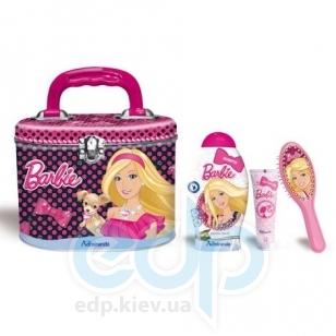 Admiranda Barbie - Набор подарочный - (Шампунь для волос Barbie 250 ml + Расческа для волос 2D Barbie + Гель для тела с блестками Barbie 50 ml + чемоданчик) (арт. AM 72560)