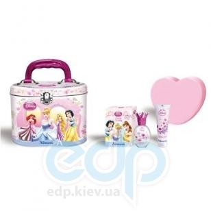 Admiranda Princess - Набор подарочный (Туалетная вода Princess 30 ml + Гель для тела с блестками Princess 50 ml + мочалка + чемоданчик) (арт. AM 71267)