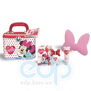 Admiranda Minnie - Набор подарочный (Туалетная вода Minnie 50 ml + Гель для тела с блестками Minnie 50 ml + мочалка-бант + чемоданчик) (арт. AM 71055 )