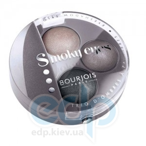 Тени для век 3-цветные компактные Bourjois - Smoky Eyes №12 Белая сирень - 4.5 g
