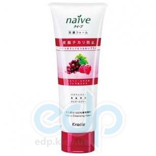 Kanebo Пенка для умывания и снятия макияжа с экстрактом малины и виноградных листьев для нормальной, жирной,комбинированной и чувствительной кожи лица - Naive - 110 g (KN 67389)
