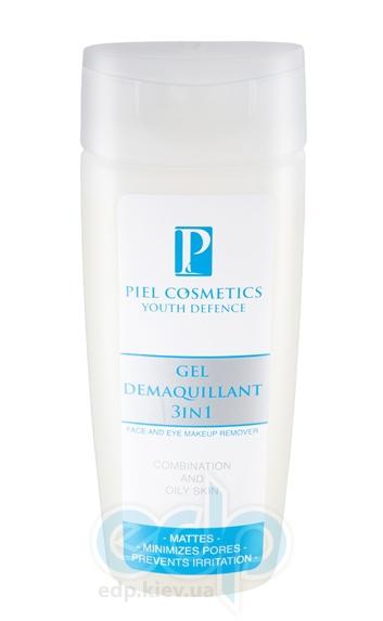 Piel Cosmetics - Youth Defense Gel Denaquillant 3 in 1 Face and Eye Makeup Remover - Гель для снятия макияжа (глубокое очищение) - 200 ml (для жирной и комбинированой кожи)