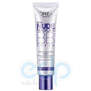 Крем-уход тональный для лица увлажняющий с эффектом естественного сияния для смуглой кожи L'Oreal - Nude Magique BB cream №03 - 30 ml