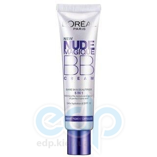 Крем-уход тональный для лица увлажняющий с эффектом естественного сияния для очень светлой кожи L'Oreal - Nude Magique BB cream №01 - 30 ml