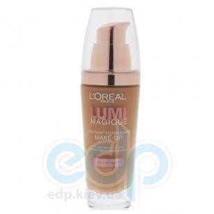Тональный крем для лица выравнивающий, придающий сияние L'Oreal - Lumi Magique №W6 Темно-песочный - 30 ml