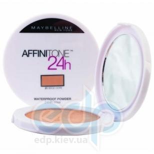 Пудра для лица водостойкая, компактная Maybelline - Affinitone 24h Waterproof №021 Медово-бежевый - 9g