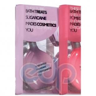 Mades Cosmetics - Pure сахарный тростник - Набор (гель для душа 150 мл+лосьон для тела 150 мл+мочалка-рукавичка массажная+мыло 50 гр)