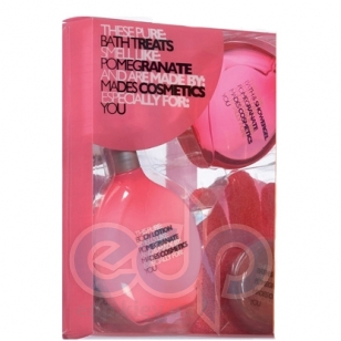 Mades Cosmetics - Pure гранат - Набор (гель для душа 150 мл+лосьон для тела 150 мл+мочалка-рукавичка массажная+мыло 50 гр)