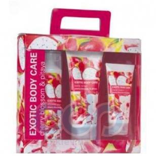 Mades Cosmetics - Exotic Body Care питайя и вишня - Набор (крем для душа 250 мл+скраб для тела 200 мл+крем для рук 100 мл)