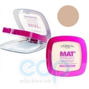 Пудра для лица компактная матирующая Loreal - Mat Magique №04 Ваниль - 9g