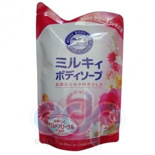 Kanebo Мыло для тела жидкое молочное с аминокислотами шелка с ароматом цветов - Milky Body Soap - 430 ml (KN 00159)