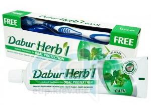 Dabur - Зубная паста с базиликом - 150 гр + зубная щетка в подарок