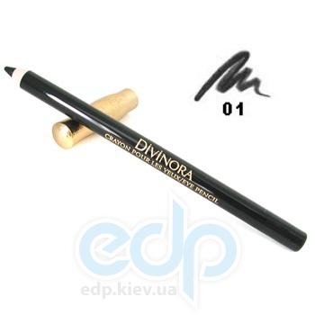 Карандаш для век Guerlain -  Divinora Crayon Pour Les Yeux №01 Black/Черный