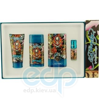 Christian Audigier Ed Hardy Hearts and Daggers for Him -  Набор (туалетная вода 100 + mini 7.5 + гель для душа 90 + дезодорант стик 78)